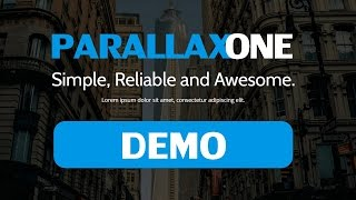 Parallax One Theme: Demo And Customization Setup
