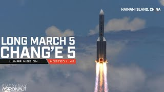 Watch China launch a lunar RETURN mission on their Long March 5 rocket!