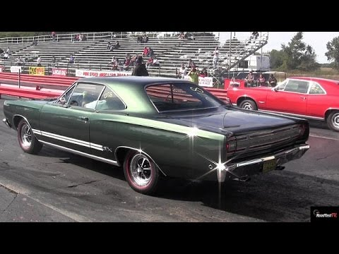 1968 440 GTX v 1966 GTO - 1/4 Mile Drag Race Video - Road Test TV ®