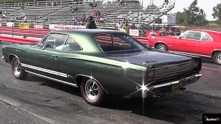 1968 440 GTX v 1966 GTO - 1/4 Mile Drag Race Video - Road Test TV