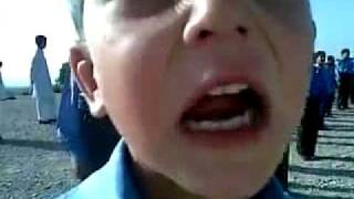 Funny Pathan Child Sing Pakistan National Anthem.flv