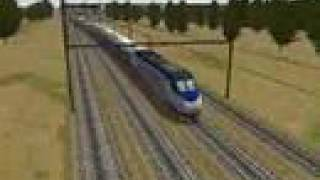 MSTS - Acela Express, Speed test