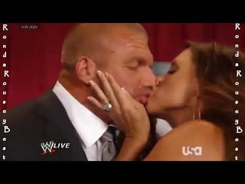 WWE Stephen Mcmahon Best hot kiss 2017