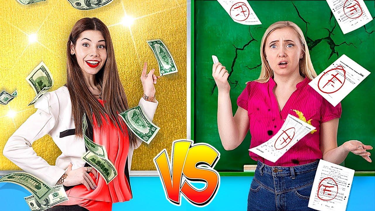 Download Rich Student vs Broke Student / 5 DIY Weird College Supplies