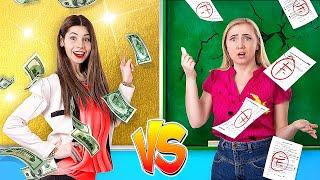 Rich Student vs Broke Student \/ 5 DIY Weird College Supplies