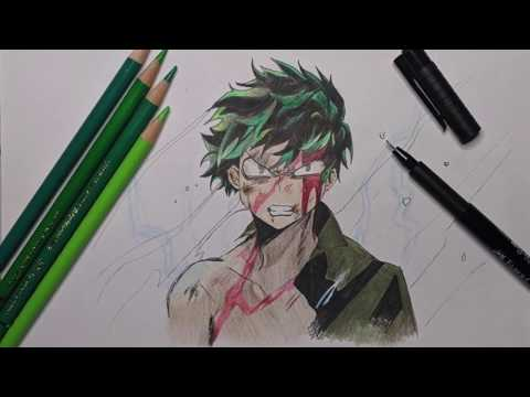 How to Draw Izuku Midoriya Deku | MY HERO ACADEMIA | BOKU NO HERO