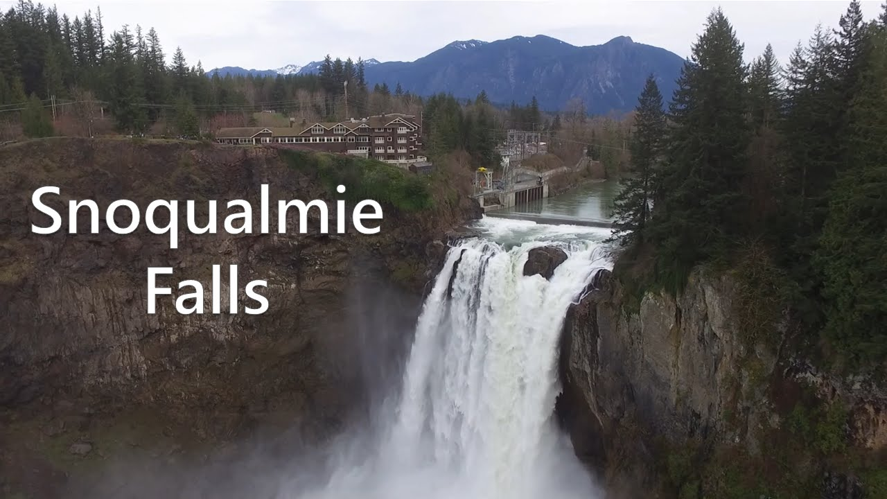 Dji Phantom 3 Drone >> Snoqualmie Falls - Drone Video Tour - YouTube