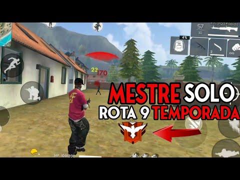 SEGREDO DA SOLO RANKED MELHOR ROTA DO MESTRE 9 TEMPORADA  NO FREE FIRE