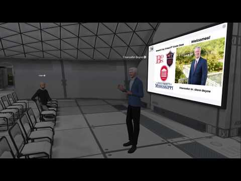 Virtual Reality! Chancellor Boyce at the University of Mississippi visits Benedict Day School