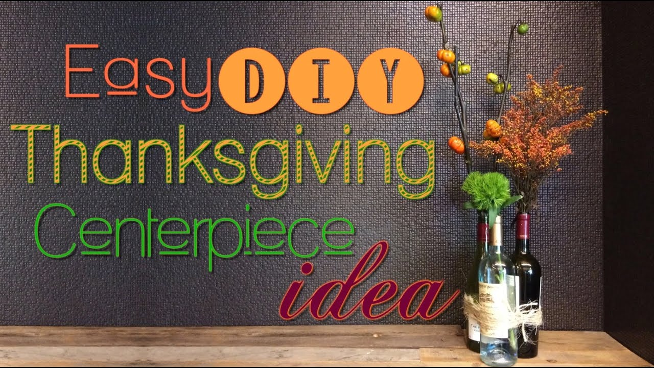 Thanksgiving centerpiece quick and easy diy youtube for Centerpiece ideas for thanksgiving to make