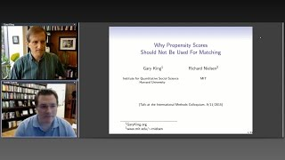 "Gary King, ""Why Propensity Scores Should Not Be Used for Matching"""