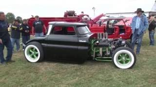 INSANE 65 Chevy  RAT ROD Truck BURNOUT