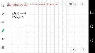Sistema de dos ecuaciones lineales con dos incógnitas-Intro
