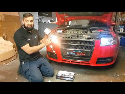 Alien SD2 Audi A3 HID Conversion kit & LED Sidelight Install Terminator