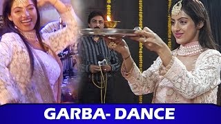 Kavach 2 Actress Deepika Singh Garba Dance Performance At Navratri Celebration Durga Puja 2019
