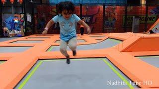 Bermain Trampolin, Lompat seru - Fun trampolin for kids - Main Trampolin