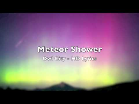HD  Meteor Shower Lyrics  Owl City