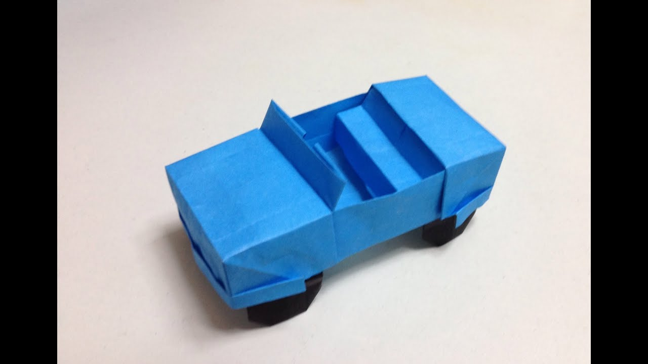 How To Make A Origami Jeepcar Youtube