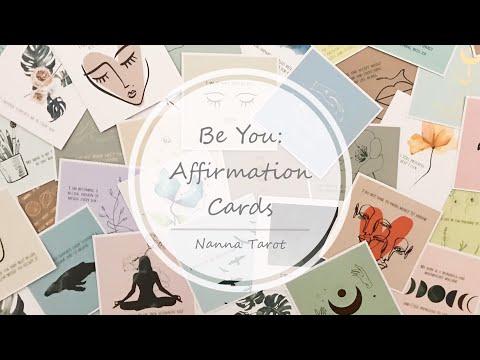 開箱  做你自己:正向能量卡 • Be You: Affirmation Cards // Nanna Tarot