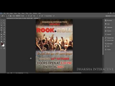 How to Create Flyer/Poster in photoshop tips | Dhakshainteractive