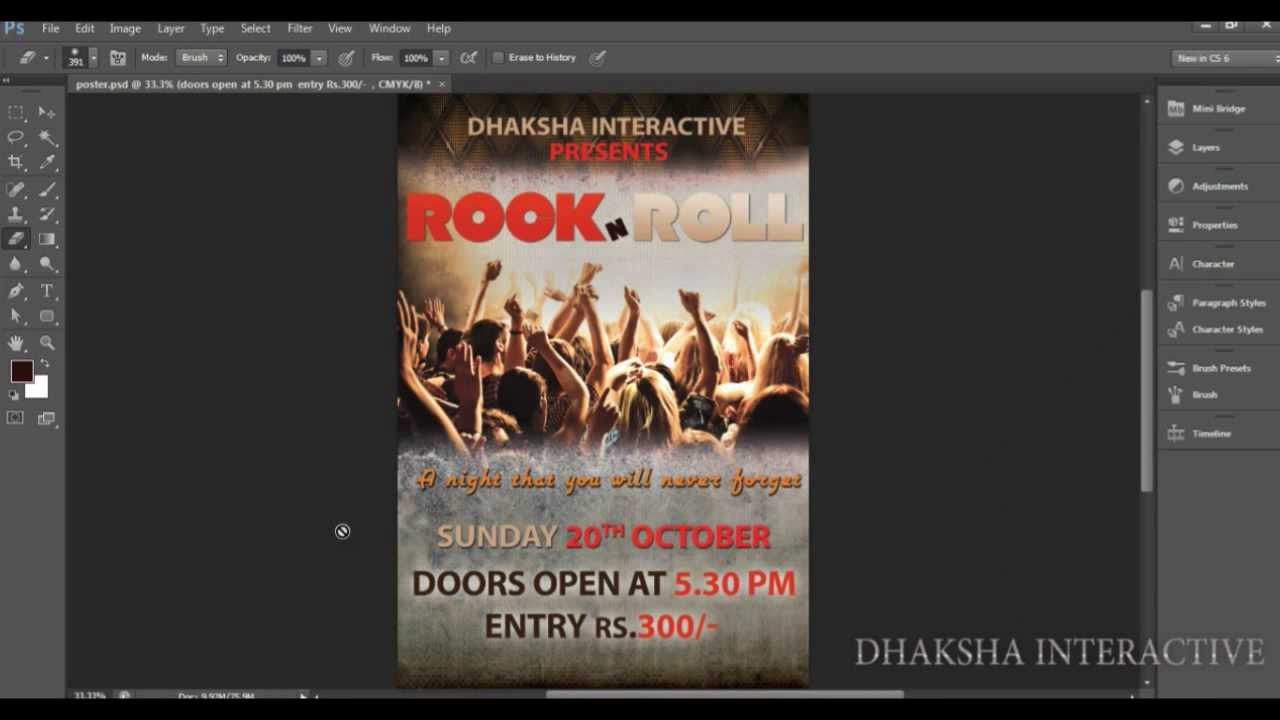 Poster design using photoshop - How To Create Flyer Poster In Photoshop Tips Dhakshainteractive Youtube