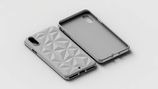 How to make 'Textured Mobile Case' in Solidworks 2016