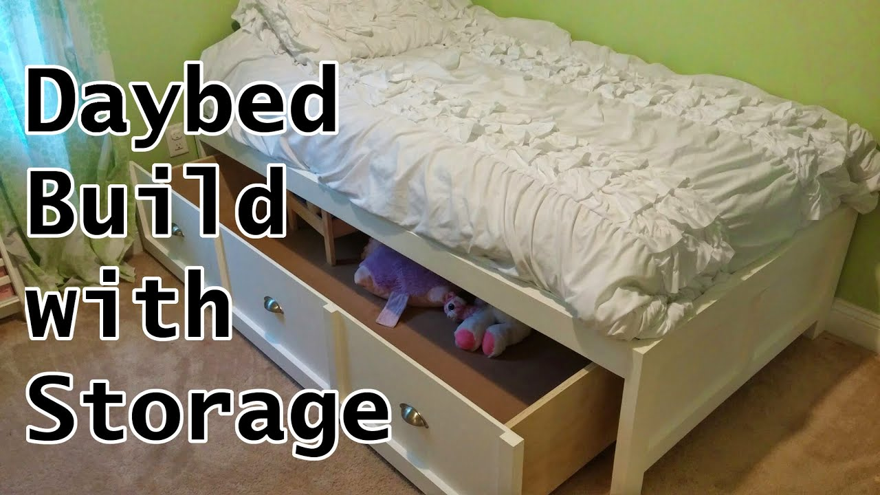Daybed Build With Storage   YouTube Awesome Ideas