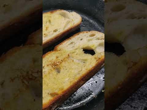 Toasted Sourdough With Pesto, Fried Eggs & Feta #shorts