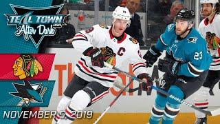 Chicago Blackhawks vs San Jose Sharks - 11/5/2019 - Teal Town USA After Dark (Postgame)