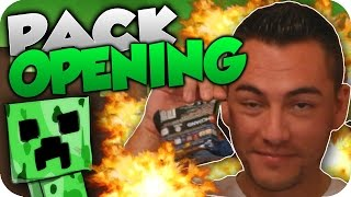 PACK OPENING!! PAQUETES DE MINECRAFT!! MOLAN!! | Flowstreet y Stratus