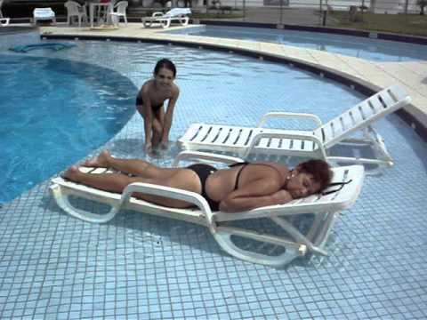 Biel e minha mãe no Oceania Park Hotel