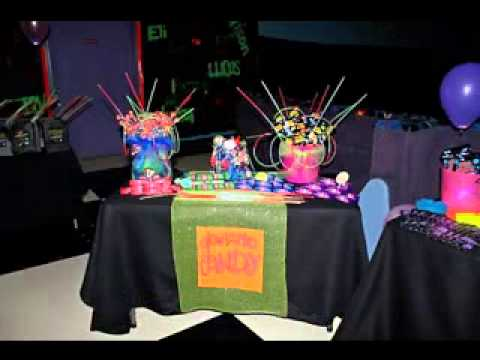 Neon party design ideas youtube for Event planning decorating ideas