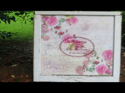 How to Decoupage a Glass Window Shabby Chic
