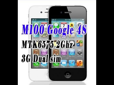M100 Google 4S The world first 3G dual sim standby iphone clone with MTK6575 2G cpu