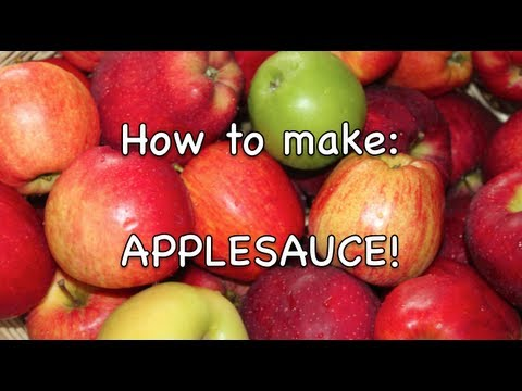 How To Make: Sugar Free Organic Applesauce