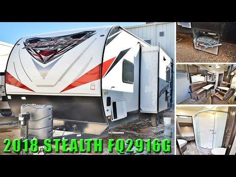 new-2018-toy-hauler-stealth-fq2916g-travel-trailer-rv-solar-panel-generator-off-grid-camper