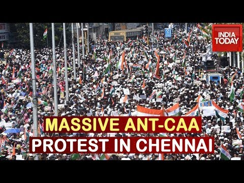 Anti-CAA Stir In Chennai Despite Madras HC Restriction; Police Books 20000 Protesters