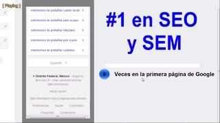 #1 SEO y SEM - Estrategias de Posicionamiento Web | SEO y SEM en Google