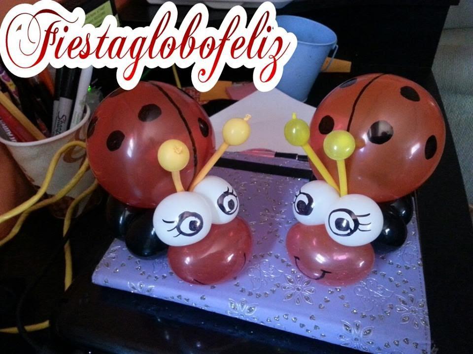Como hacer una catarina con globos youtube - Como hacer figuras con globos ...