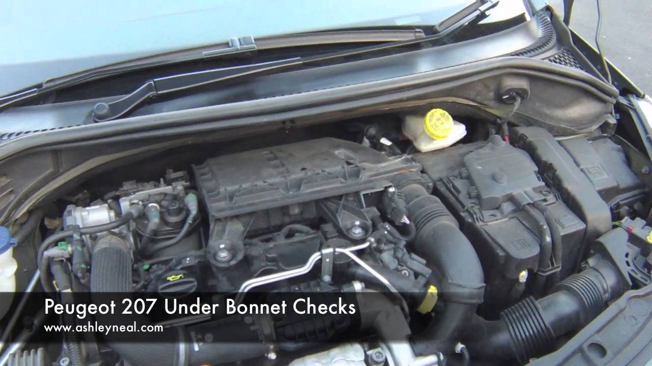 Peugeot 207 Under Bonnet Checks
