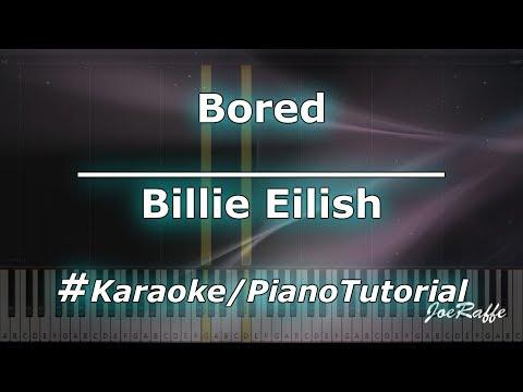 Billie Eilish - Bored (Karaoke/PianoTutorial/Instrumental)