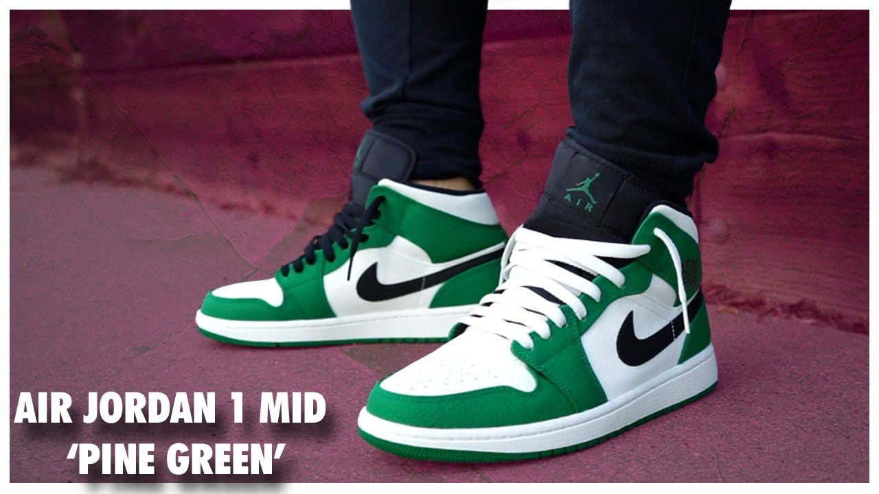 another chance b1ee7 690a2 Air Jordan 1 Mid  Pine Green  - YouTube