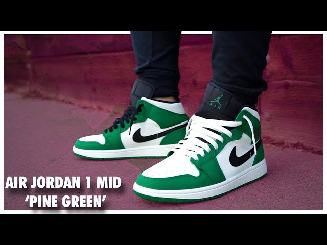 2f09801df7c43d Air Jordan 1 Mid  Pine Green  - YouTube