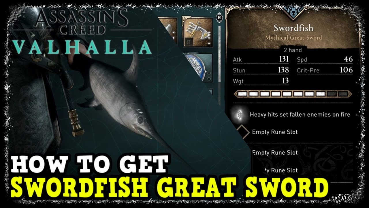 How to Get Swordfish Great Sword in Assassin's Creed Valhalla All Fishing Hut Deliveries