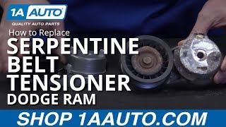 how to install replace serpentine belt tensioner 2003 08 dodge ram 1500 buy parts at 1aauto com