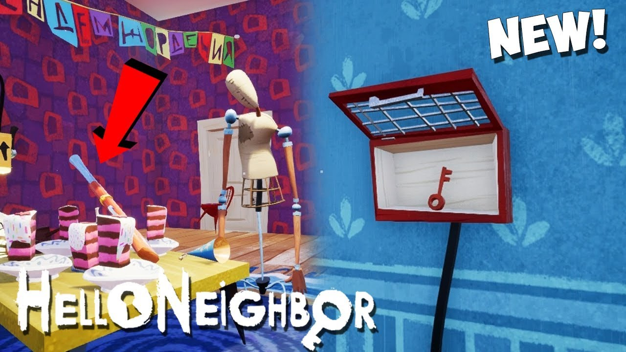 ALL BETA 3 PUZZLES SOLVED Red Key And Gun! | Hello Neighbor