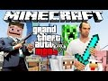 GTA 5 MOD PC MINECRAFT EN GTA 5!!! STEVE CRAFTEANDO Y DESTRUYENDO LOS SANTOS! GTA V Funny Moments