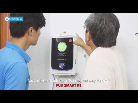 Lắp đặt Máy Lọc Nước điện Giải Ion Kiềm Fuji Smart K8 - Gia đình Cô Thanh Hằng