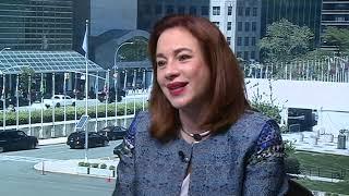 GA President María Fernanda Espinosa with Al Arabiya thumbnail