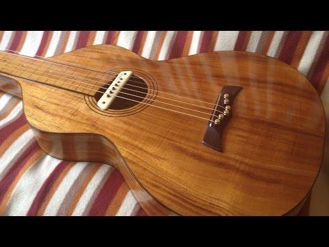 Herrmann Guitars Koa Weissenborn Build
